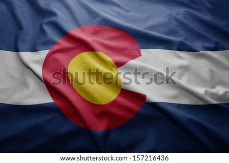 Palma bandeira Colorado homem mão pintado Foto stock © tony4urban