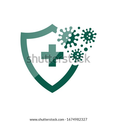 Protected Sign Blue Vector Icon Button Stock photo © rizwanali3d
