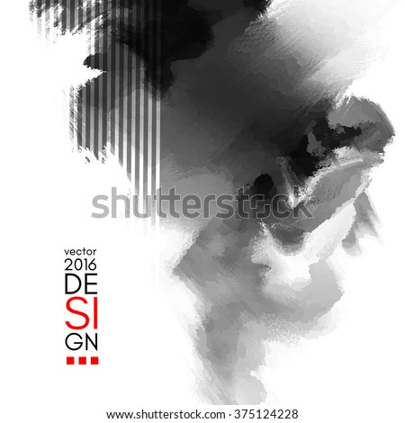 Stock photo: Abstract inkblot background.