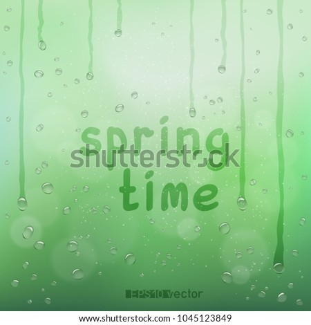 Stock fotó: Tavasz · idő · szöveg · homályos · eső · bokeh