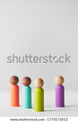 Houten beeldje permanente witte gelukkig benen Stockfoto © wavebreak_media