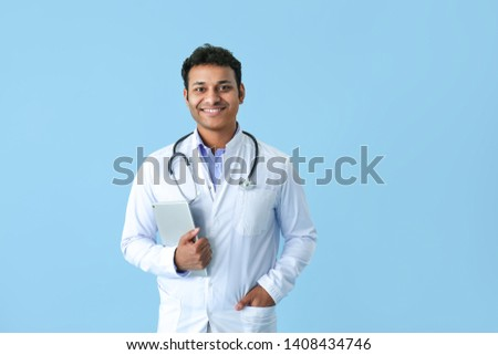 Young handsome doctor working in the hospital  Stock photo © Elnur