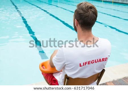 Pływanie trener ubrania basen wody człowiek Zdjęcia stock © galitskaya