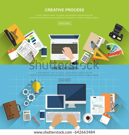vetor · mercado · criador · negócio · ilustração · trabalhando - foto stock © Giraffarte