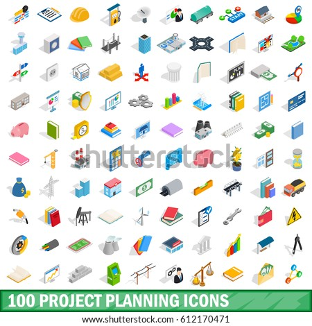 Product Manager Work Isometric Icons Set Vector Stock photo © pikepicture