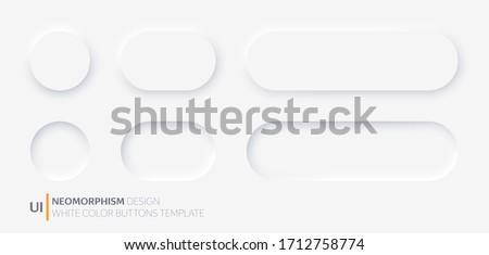 Trois boutons gris jaune noir isolé Photo stock © zhekos