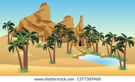 Cartoon Dunes Stock photo © cidepix