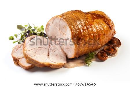 slice of roast pork Stock photo © M-studio