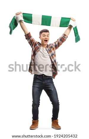 парень спортивная команда шарф человека вверх Сток-фото © LironPeer