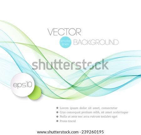 abstract · fumoso · onde · modello · brochure · design - foto d'archivio © fresh_5265954