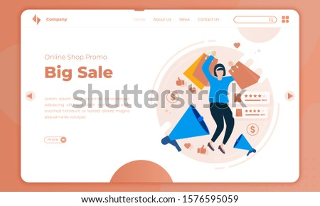Special Offer Commerce and Promotion Landing Page Stock photo © robuart