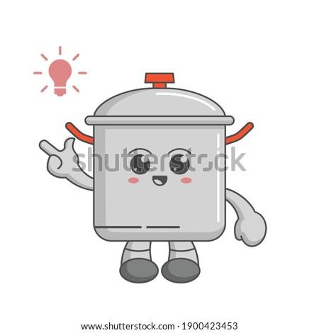 Koken nieuwe idee wok glimlachend persoon Stockfoto © ra2studio