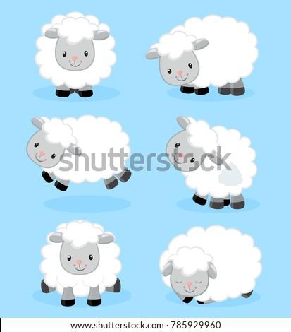 vector set of sheep Stockfoto © olllikeballoon