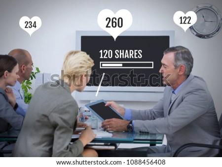 Personas tableta reunión estado bares compuesto digital Foto stock © wavebreak_media