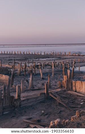 Piękna wygaśnięcia słony jezioro syberia Rosja Zdjęcia stock © olira