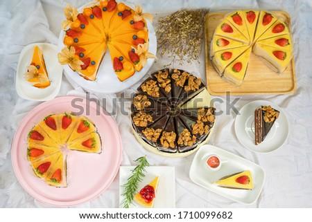 Tasty different cakes Stock photo © olira