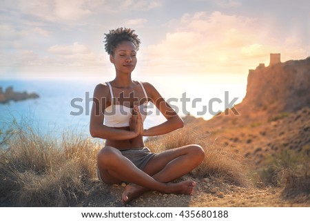 Woman doing yoga in mountains Stock photo © dmitry_rukhlenko