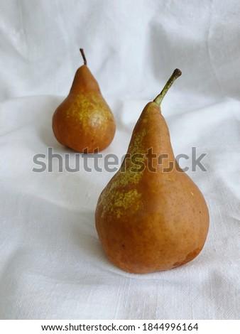 twee · Geel · peren · witte · voedsel · blad - stockfoto © srnr