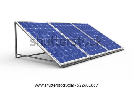 Solar Panel With Sunshine Сток-фото © Fotovika