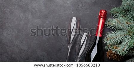 Wine glasses on black Stock photo © RTimages
