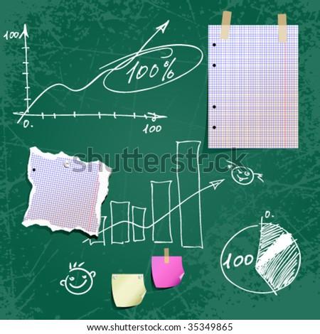 Business Diagram On A Blackboard Foto stock © Aqua