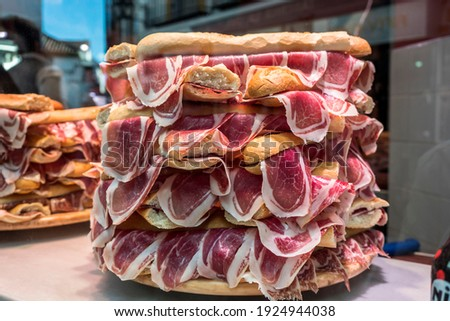 несколько типичный хлеб Бутерброды Испания сэндвич Сток-фото © guillermo