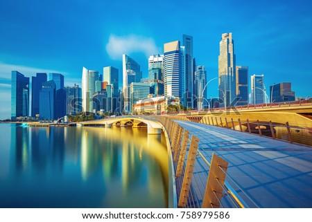 Singapore business cener Stock photo © joyr