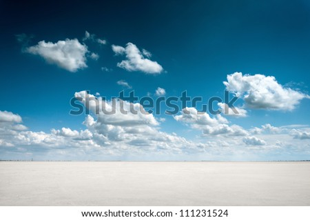 good deep blue sky Stock photo © mycola