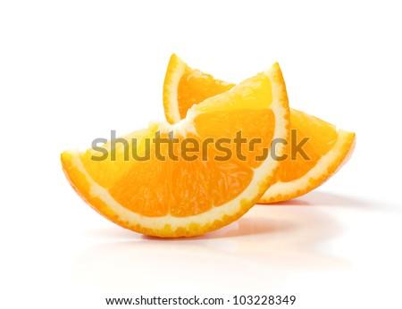 gesneden · oranje · twee · sinaasappelen · half · oranje · vruchten - stockfoto © oleksandro
