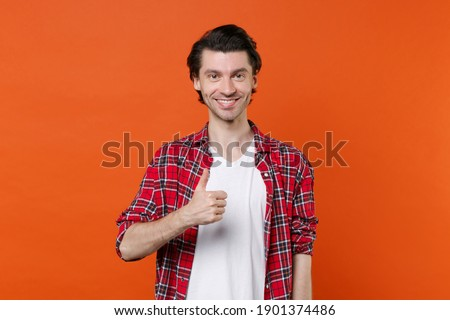Funny hipster man looking at camera Stock photo © deandrobot