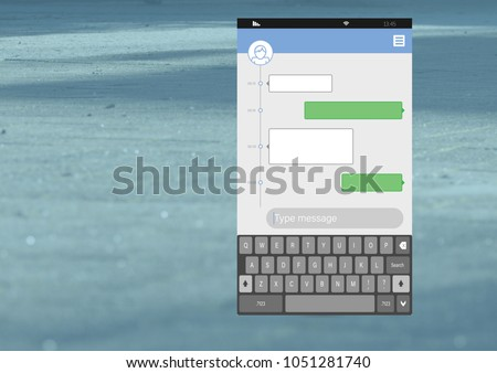 Composite image of smartphone text messaging apps stock photo © wavebreak_media