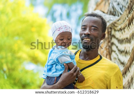 Father and baby in the village Stock photo © lubavnel
