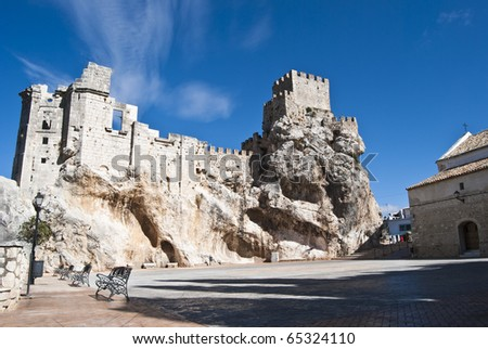 Stock photo: ruine of castle in zuheros