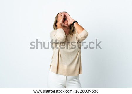 Shouting loudly. Stock photo © Fisher