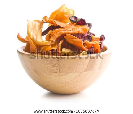 Veggie chips in bowl Stock photo © YuliyaGontar