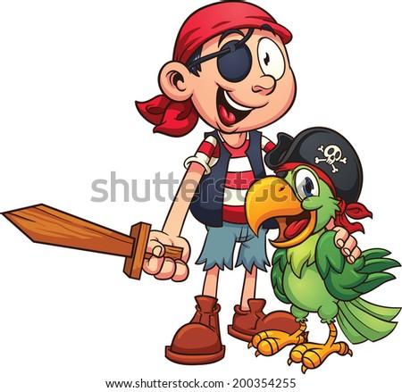 Cartoon piraat knuffel illustratie klaar geven Stockfoto © cthoman