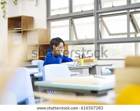 Sad lonely student Stock photo © Lopolo