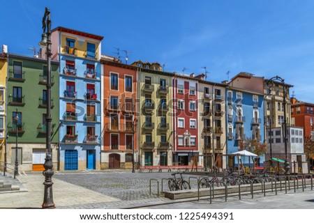 Tér cég Spanyolország égbolt utazás városi Stock fotó © borisb17