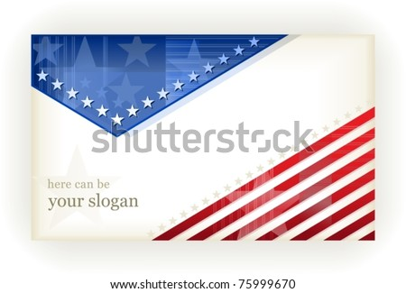Us American Flag Themed Card Or Background Zdjęcia stock © wenani