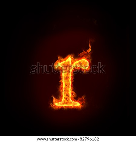 Stock photo: fire small letter r