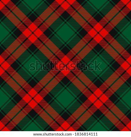 Karácsony kockás minta vektor csomagolópapír fa Stock fotó © Ecelop