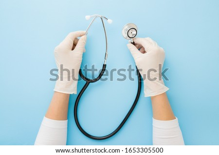 Doctor auscultating Stock photo © photography33
