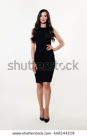 modelo · vestido · preto · retrato · belo · escuro · posando - foto stock © zastavkin