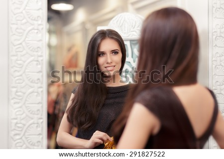 young woman fits on a black dress stock photo © ssuaphoto
