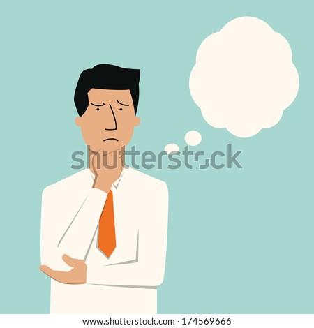 Rajz hangsúlyos férfi gondolatbuborék kéz terv Stock fotó © lineartestpilot
