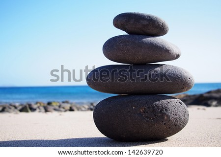 Stone Stacks Against Sky ストックフォト © stockyimages