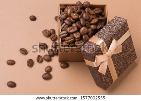 Coffee beans and Christmas decoration  in an open box Stock photo © CaptureLight