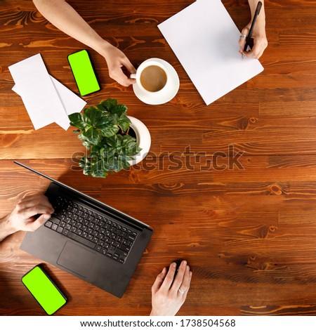 Team on wooden table stock photo © fuzzbones0