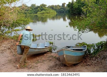 Preparing the canoe for the trip Stock photo © wildnerdpix