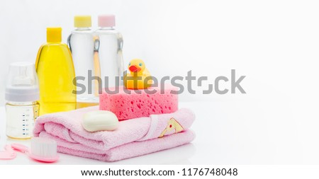 azul · banho · toalha · sabão · estância · termal - foto stock © joannawnuk